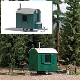 Busch 1983 Mobile logger hut, green