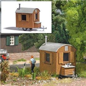 Busch 1984 Mobile logger hut, brown