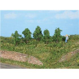 Heki 19130 Lövträd, 5 st, 4 cm höga