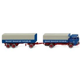 Wiking 43203 Flatbed road train (MB) 'Transit Transport'