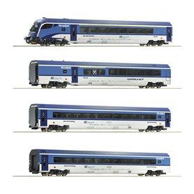 """Roco 74064 Vagnsset med 4 personvagnar """"Railjet"""" CD"""