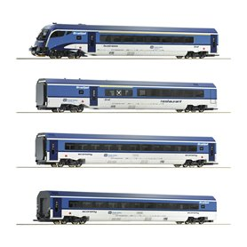 """Roco 74065 Vagnsset med 4 personvagnar """"Railjet"""" CD"""