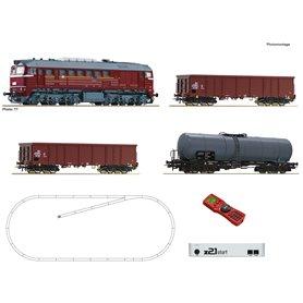 Roco 51331 z21 start digital set: Diesel locomotive class 120 with goods train, DR