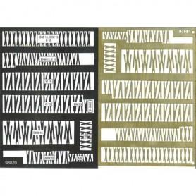 Roco 98020 Etsark med Roco´s 15-gradiga växlar, mässing