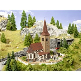 """Noch 63906 Church """"St. George"""" with micro-sound Bells Ringing"""