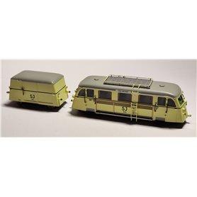 """NMJ Yd330T Rälsbuss med släp UF 1512 SJ """"Hilding Carlsson"""" typ Yd 330, skyltar för Vännäs-Jörn-Vännäs"""