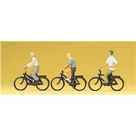 Preiser 10336 Cyklister, 3 st