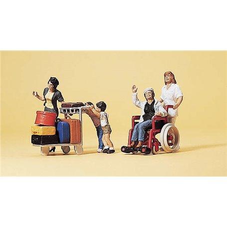 Preiser 10465 Resande med rullstolsbunden