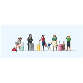 Preiser 10795 Resenärer, 6 st