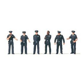 Preiser 10799 Amerikanska Poliser, 6 st