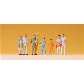 Preiser 14143 Åskådare med barn