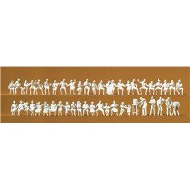 Preiser 16356 Ölserveringen 46 st, omålade figurer