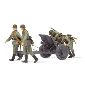 Preiser 16602 Antitank gun 3,7 cm PAK L/45 med 3 st militärer