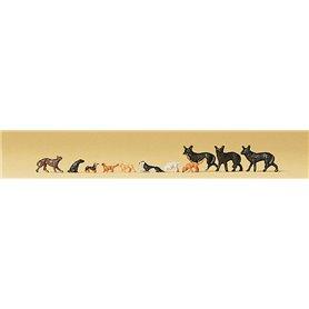 Preiser 79122 Hundar, 11 st