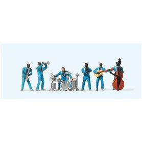 Preiser 10112 Jazzband, 6 st med tillbehör