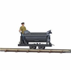 Busch 12219 Tipper wagon with brakeman