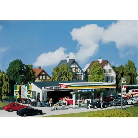 """Faller 130345 Tankstation """"BP"""" med garageverkstad"""