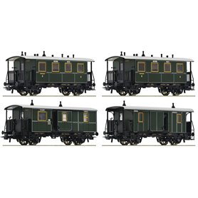 "Roco 74187 4 piece set ""Local train"", K.Bay.Sts.B."
