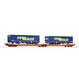 Roco 77393 Articulated double pocket wagon T3000e