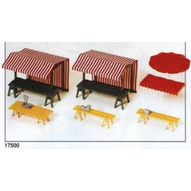 Preiser 17500 Marknadstillbehör, bord m.m.