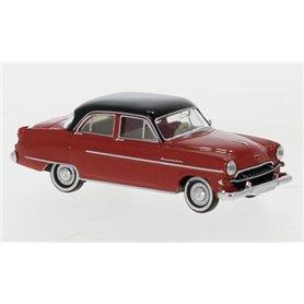 Brekina 20874 Opel Kapitän 1954, röd/svart
