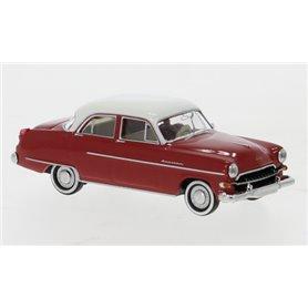 Brekina 20875 Opel Kapitän 1954, röd/vit