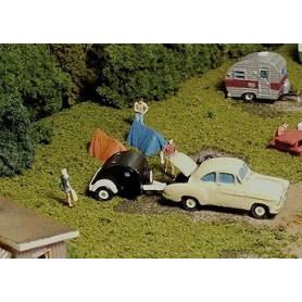 Nucomp 618 Camping-set med bil och husvagn