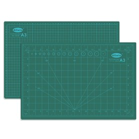 """Allwin A3 Skärmatta A3, mått 45 x 30 cm, 3 mm tjock, grön, """"self healing"""", 3 lager"""