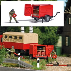 Busch 7961 Trailer with fire house