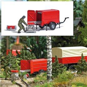 Busch 7962 Fire house trailer with portable pump