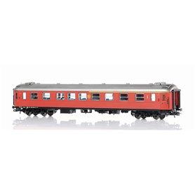 NMJ 203001 Personvagn SJ ABo3.5060 1:a/2:a klass brun med rund SJ-logo