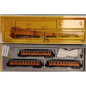 Märklin 2870 Tågsats med SJ:s D-lok och 3 trävagnar