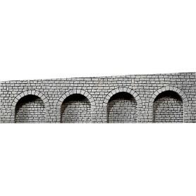 Faller 170839 Arkadplatta Natursten, grå, med rundbågar, stigning till höger