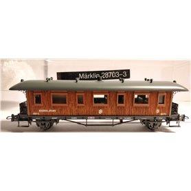 Märklin 28703.3 Personvagn 3:e klass 3271 SJ, originalkartong saknas