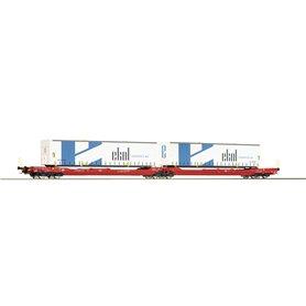 Roco 77386 Dubbelvagn 738/T3000e Sdggmrs Deutsche Bahn AG Ekol