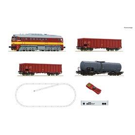 Roco 51332 z21 start digital set: Diesel locomotive class T679.1 with goods train, CSD