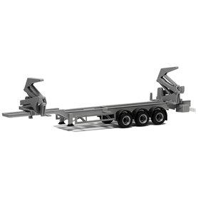 Herpa Exclusive 480423 Trailer Hammar Container Sideloader Edition, 3-axlig, grå