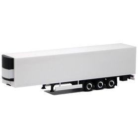 Herpa Exclusive 630567 Eurotrailer kyl, 3-axlig, vit med svart chassi
