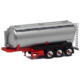 Herpa Exclusive 650030 Silotrailer 42 cbm, 3-axlig, silver och röd