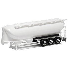 Herpa Exclusive 650303 Silotrailer 55 cbm, 3-axlig, vit med svart chassi
