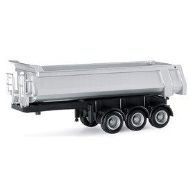 Herpa Exclusive 670158 Carnehl Dump trailer, 3-axlig, Silver med svart chassi