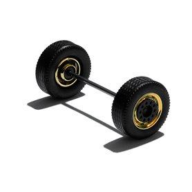 Herpa Exclusive 690120E Däck/hjulaxel, framaxel/släpaxel MEDI, 1 st, guldkrom/svart