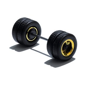 Herpa Exclusive 690120F Däck/hjulaxel, drivaxel MEDI Hypoid, 1 st, guldkrom/svart