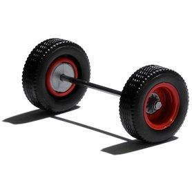 Herpa Exclusive 690153C Däck/hjulaxel, släpvagnsaxel, 1 st, röd/silver