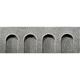 """Faller 170838 Arkadplatta """"Quader"""", grå, med runda valv, mått 370 x 125 x 12 mm"""