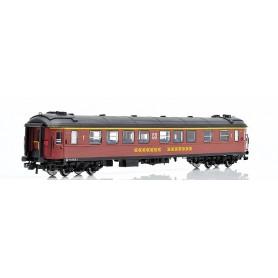 NMJ 201201 Personvagn SJ A2FGR 4976 1:a klass, brun, med Inter-City färger