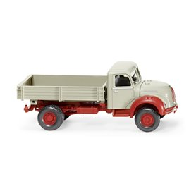 Wiking 42498 Flatbed tipper (Magirus) - pebble grey