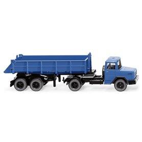 Wiking 67706 Rear tipper semi-truck (Magirus Deutz) - blue