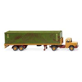 Wiking 55405 Flatbed semi-trailer truck (Magirus Deutz)
