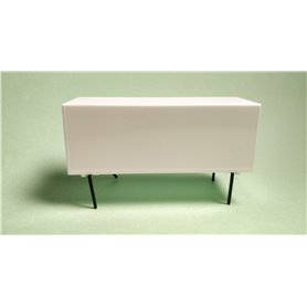 Herpa Exclusive 490046 Cargobox, vit, omärkt, släta sidor, utfällbara ben
